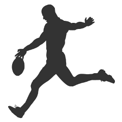 Footy player silhouette